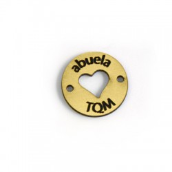 "Plexy Acrylic Pendant ""ABUELA TQM"" 20mm"