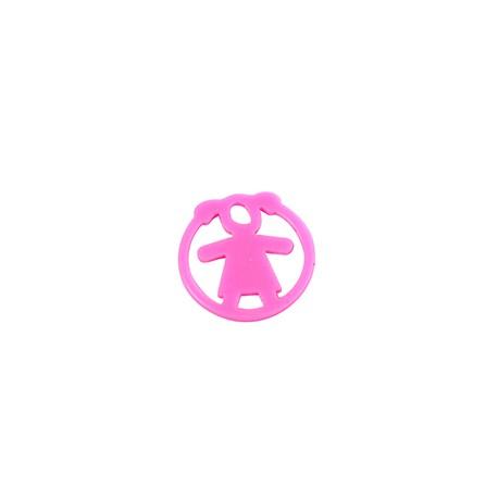 Plexy Acrylic Round Pendant Girl 20mm