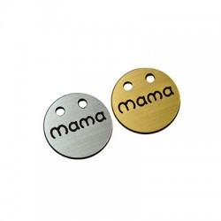 """Πλέξι Ακρυλικό Μοτίφ Στρογγυλό """"mama"""" με 2 Τρύπες 20mm"""