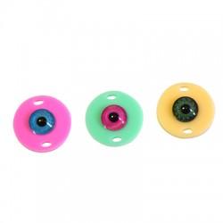 Intercalaire rond en Plexiacrylique avec œil porte-bonheur 18mm