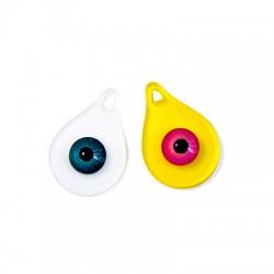 Pendentif goutte en Plexiacrylique avec œil porte-bonheur 30x20mm