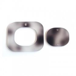 Ciondolo e Connettore in Plexiacrilico Quadrato 40mm (Set 2pz)