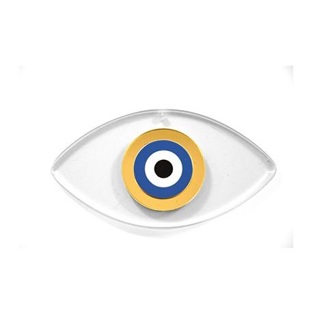Ciondolo in Plexiacrilico Occhio Portafortuna 48x90mm