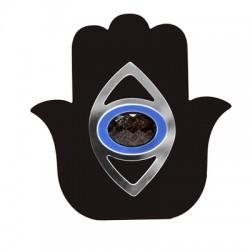 Plexi Acrylic Deco Lucky Hamsa Hand 103x106mm