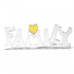 """Πλέξι Ακρυλικό Επιτραπέζιο """"Family"""" Καρδιά 147x58mm"""