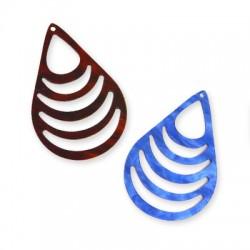 Plexi Acrylic Pendant Drop 40x59mm