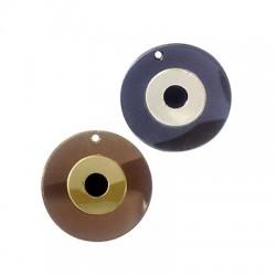 Ciondolo in PlexiacrilicoRotondo con Occhio Portafortuna 40mm