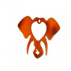 Plexi Acrylic Pendant Elephant Head 64x65mm