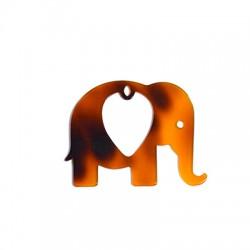 Plexi Acrylic Pendant Elephant 65x50mm