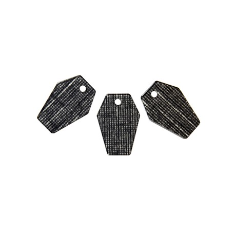 Charm in Plexiacrilico Poligono 15x22mm