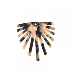 Plexi Acrylic Pendant Irregular 48x50mm