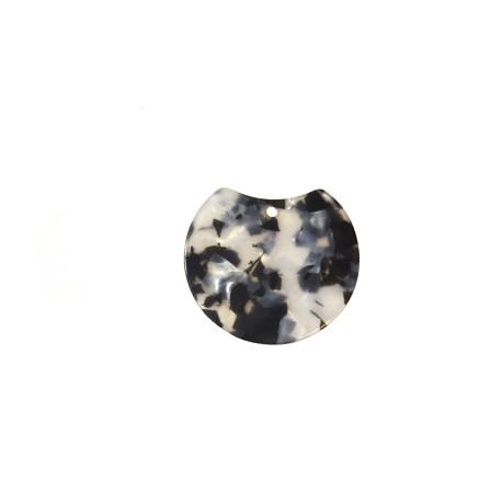 Ciondolo in Plexiacrilico Rotondo Irregolare 45x40mm