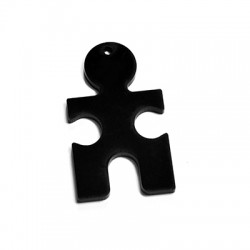 Plexi Acrylic Pendant Puzzle Piece 29x50mm