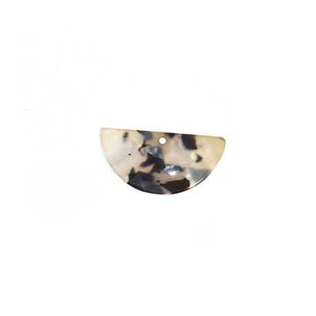 Ciondolo in Plexiacrilico Semicerchio 40x20mm