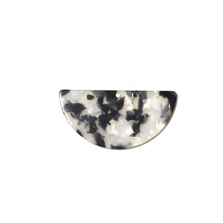 Ciondolo in Plexiacrilico Semicerchio 69x43mm