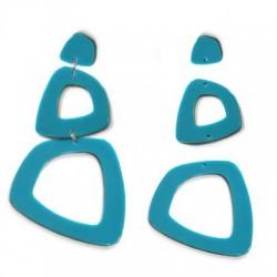 Plexi Acrylic Earring Set 80x45mm (3pcs)