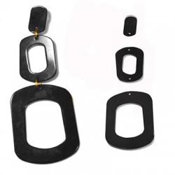 Plexi Acrylic Earring Set 80x33mm (3pcs)