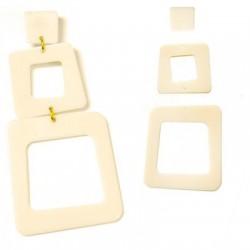 Plexi Acrylic Earring Set 78x38mm (3pcs)