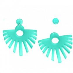 Plexi Acrylic Earring 72x84mm (2pcs set - Earring Pin Included)