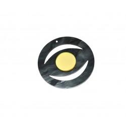 Ciondolo in Plexiacrilcio Rotondo con Occhio Portafortuna 55mm
