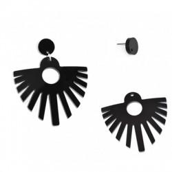 Plexi Acrylic Earring 51x62mm (2pcs set - Earring Pin Included)