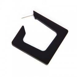 Πλέξι Ακρυλικό Σκουλαρίκι Γεωμετρικό με Καρφάκι 49x50mm