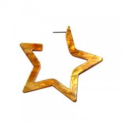 Πλέξι Ακρυλικό Σκουλαρίκι Αστέρι με Καρφάκι 69mm