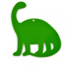 Ciondolo in Plexiacrilico Dinosauro 60x79mm