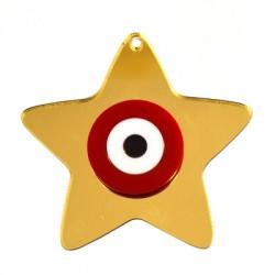 Plexi Acrylic Pendant Lucky Star Eye 59x55mm