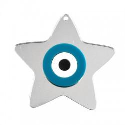 Plexi Acrylic Pendant Lucky Star Eye 65x70mm