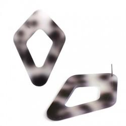 Πλέξι Ακρυλικό Μοτίφ Ρόμβος Περίγραμμα 47x70mm