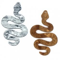 Plexi Acrylic Pendant Snake 36x60mm