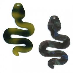 Plexi Acrylic Pendant Snake 33x60mm