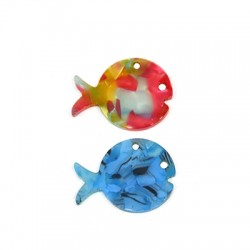 Plexi Acrylic Pendant Fish 30x23mm