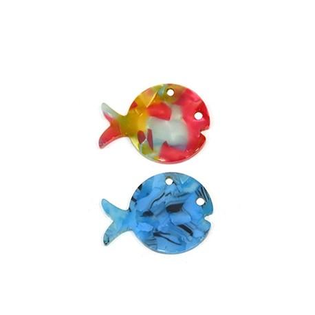 Πλέξι Ακρυλικό Μοτίφ Ψάρι 30x23mm