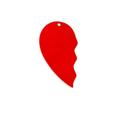Πλέξι Ακρυλικό Μοτίφ Μισή Καρδιά 34x62mm