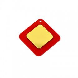Plexi Acrylic Pendant Rhombus 34mm