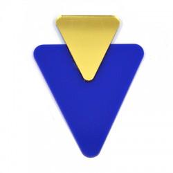 Plexi Acrylic Pendant Triangle 52x69mm