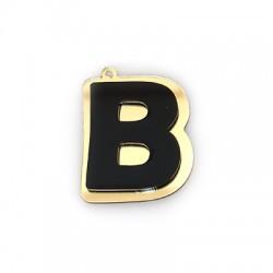 "Plexi Acrylic Pendant Letter ""B"" 40mm"