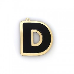 """Plexi Acrylic Pendant Letter """"D"""" 37x40mm"""