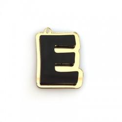 "Plexi Acrylic Pendant Letter ""E"" 30x40mm"