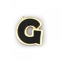 """Πλέξι Ακρυλικό Μοτίφ Γράμμα """"G"""" 37x40mm"""