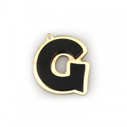 "Plexi Acrylic Pendant Letter ""G"" 37x40mm"