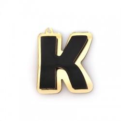 """Πλέξι Ακρυλικό Μοτίφ Γράμμα """"K"""" 35x40mm"""