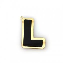 """Plexi Acrylic Pendant Letter """"L"""" 29x40mm"""