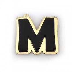 """Plexi Acrylic Pendant Letter """"M"""" 41x40mm"""