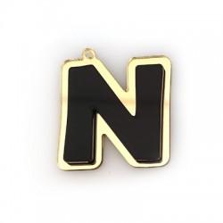 """Πλέξι Ακρυλικό Μοτίφ Γράμμα """"N"""" 40mm"""