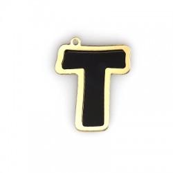 """Plexi Acrylic Pendant Letter """"T"""" 40mm"""