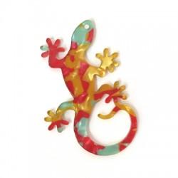 Plexi Acrylic Pendant Lizard 36x55mm