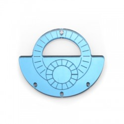 Plexi Acrylic Pendant 55x46mm